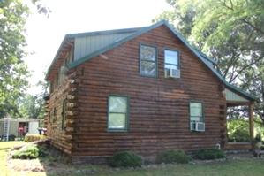 Log Cabin Staining